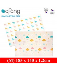 Dfang Double Film Premium PVC Mat - Cloud+Unicorns (Medium 1.2cm)