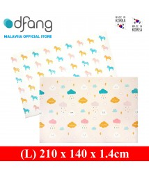 Dfang Double Film Premium PVC Mat - Cloud+Unicorns (Large 1.4cm)